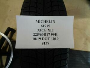 4 New Michelin Xice Xi3 225 60 17 99h Tires Wo Label 61915 Q9 Bsr