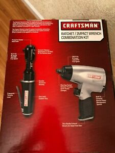 Craftsman 2 Piece Air Tools 3 8 Ratchetwrench 1 2 Impact Wrench New In Box