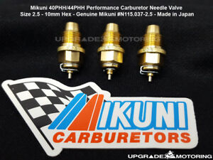 Mikuni 40phh 44phh Perf Carburetor Needle Valve Size 2 5 3pc 10mm Hex Solex