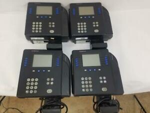 Lot Of 4 Kronos 4500 Digital Time Clock W Biometric Fingerprint Sensor