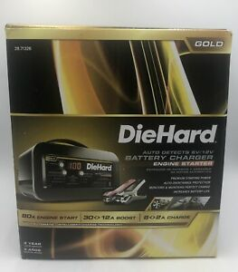 Diehard 71326 Gold Auto Detects 6v 12v Battery Charger Engine Starter
