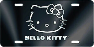 Classic Pattern Design Hello Kitty Tag Aluminum Metal License Plate