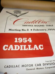 1954 Cadillac Service Roundtable Meeting Wall Chart New