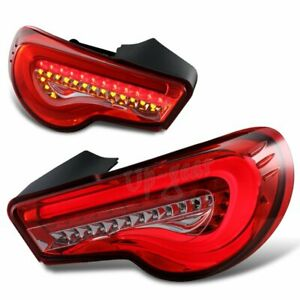 For 2013 2019 Scion Frs Ft86 Subaru Brz Drl Red clear Lens Led Tail Lights Lamp