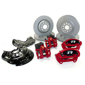 Big Brake Kit Vw Passat 3c B7 R36 Performance Calipers R With Rotors Front Rear