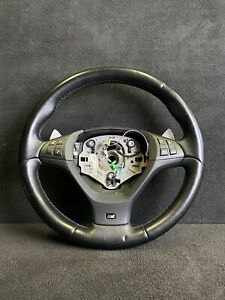 08 13 Bmw E70 X5m X5 M Steering Wheel Trim Cover Plate Black Buttons