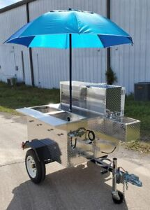 New Ready To Go 2020 Deluxe Jr 3 3 X 5 Street Food Vending Cart For Sale In Fl