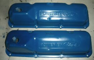 Set Oem 1970 1973 Ford Mustang Cougar Oem Dripper 351c Cleveland Valve Covers