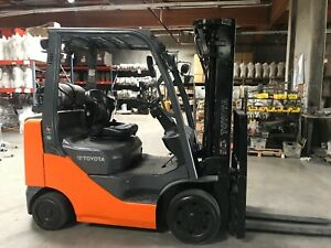 2008 Toyota Forklift 5000lbs Side Shift 3 Stage 8fgcu25 Forklift Low Hours