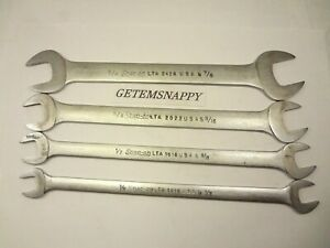 Snap On 4pc Low Torque Thin Slim Line Sae Wrench Set 7 16 To 7 8