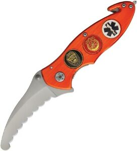 Police Emt Ems Fire Rescue Tool Fully Serrated Liner Lock Knife New