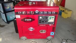 Diesel Portable Generator Tpi7000lxh 7000 Watts 16 Hours Of Use