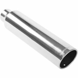 Magnaflow 35114 Stainless Steel Single Exhaust Tip 2 5 Inlet 3 5 Outlet New
