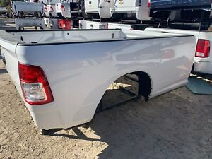 2019 2020 Doge Ram 8 Long Bed Pickup Box Truck Bed White Nto