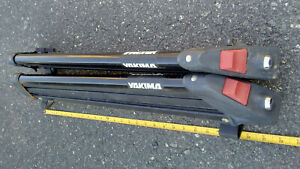 2 Yakima Cross Bar Roof Rack Holder Ski Snowboard Clamp Style No Keys