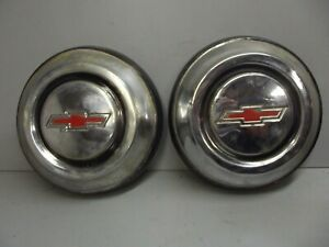 1967 1968 Chevrolet C 10 Truck Custom Cab Hubcaps Dogdish Stainless Chevy