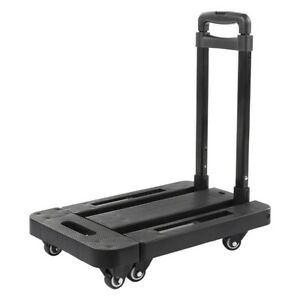 Extensible Folding Hand Truck Dolly 440lbs Heavy Duty 6 wheel Cart Compact Us