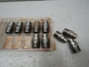 Spraying Systems H3 8ui 0080 Lot Of 7 With H3 8ui 0040 Lot Of 3 Steel Nozzle