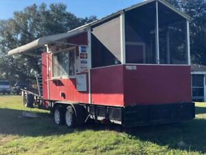 Used 2010 20 Food Concession Trailer With Screened Porch For Sale In Florida