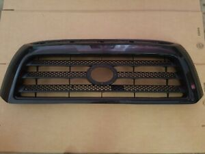 Fits 2007 2009 Toyota Tundra Front Bumper Black Grille With Paintable Frame New