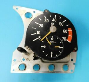 R107 Mercedes Vdo Tach And Clock Combo Dated 9 77 230 102 14
