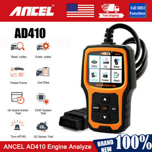 Ad410 Universal Obd2 Scanner Code Reader Engine Light Check Auto Diagnostic Tool