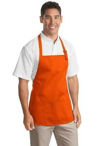 Port Authority Medium Length Apron Pouch Pockets Stain Release Protection A510