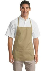 Port Authority Medium Length Apron 3 Patch Pockets Pen Pocket A525