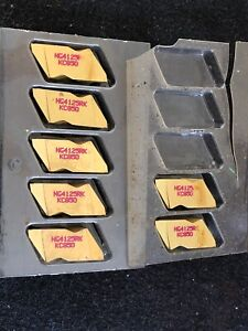 Qty 7 Kennametal Ng4125 Rk Kc850 Carbide Grooving Cut off Top Notch Inserts