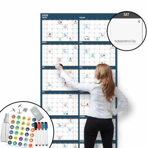 Large Dry Erase Wall Calendar 36 X 72 2020 Dated Giant Yearly Whiteboard