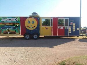 Eye catching 8 X 30 Catering And Food Concession Trailer For Sale In New Mexico