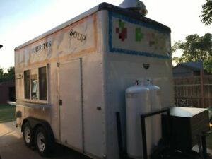 Wells Cargo 8 X 14 Kitchen Food Trailer used Mobile Food Unit For Sale In Okla