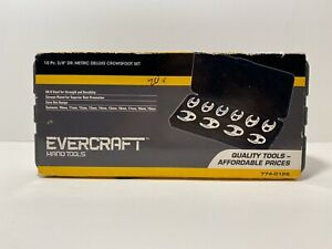 Evercraft 8 Pc 3 8 Drive Sae Deluxe Crowsfoot Set 774 0125