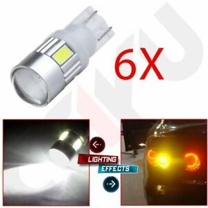 6x 921 168 T10 Cree High Power 2825 Led License Light Projector White Bulb