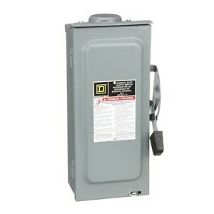 Square D D322nrb Safety Switch General Duty Fusible 60a 240v 3p Nema 3r