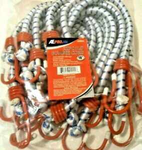 Bungee Cord Heavy Duty 12 Pc 18 Inch 1 5 Ft Red Hook Tie Down Strap