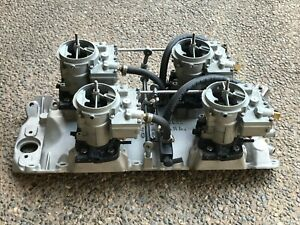 Big Block Chevy Man a fre Intake Manifold Rochester Carburetors Fully Restored