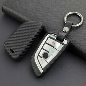 For Bmw X1 X2 X3 X4 X5 X6 X7 Carbon Fiber Key Fob Chain Case Cover Accessories