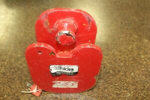 Ball And Ring Trailer Hitch Lock For Heavy Equipment