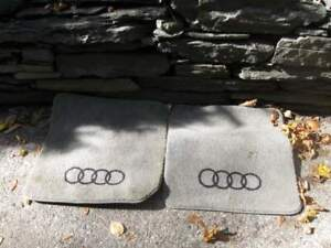 Vintage Audi Gray Carpet Floor Mats With Logo 1980s