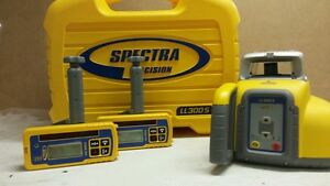 Spectra Precision Ll300s Single Slope Laser With 2 Hl450 Receivers