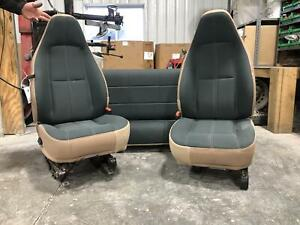 2000 2002 Jeep Wrangler Front Rear Left Right Driver Passenger Seat Cloth