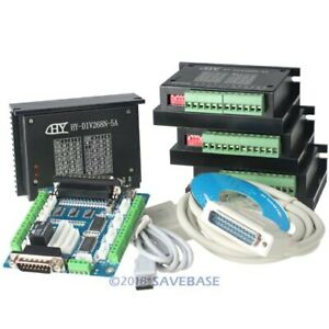 Cnc Kit 4 Axis Cnc Breakout Board 4 Tb6600hg Stepper Driver Controller 5a
