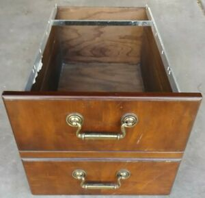 Kimball Office Furniture File Cabinet Drawer Replacement Mahogany Wood