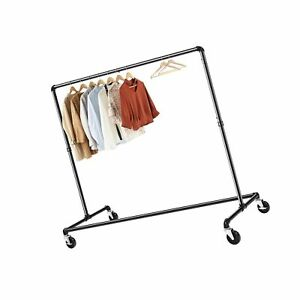 Greenstell Z base Garment Rack Industrial Pipe Style Clothes Rack On Wheels