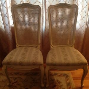 White Furniture Co French Provincial Louis Xvi Wood Fabric 4 Chairs
