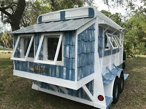 Unique Beach Cottage Style Tiny Home Or Mobile Business Trailer For Sale In Flor