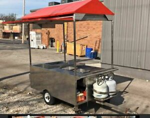 2010 4 X 6 Stainless Steel Food Vending Cart Used Street Food Cart For Sale