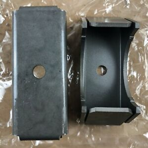 2 Leaf Spring Axle Perches 2 25 Wide 3 Diameter Axle Tube Brackets Boxed