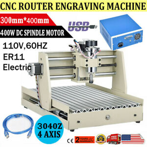 Usb 400w Cnc Router 3040 3axis Engraver Engraving Milling Machine Desktop Diy X1